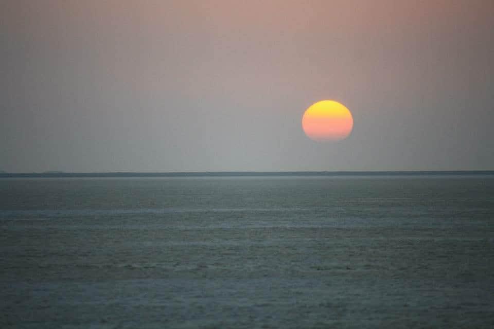 Girls Who Travel | A setting sun in India