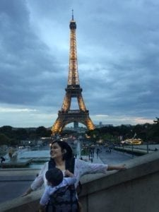 Girls Who Travel | Author Vidya with her Baby in Paris