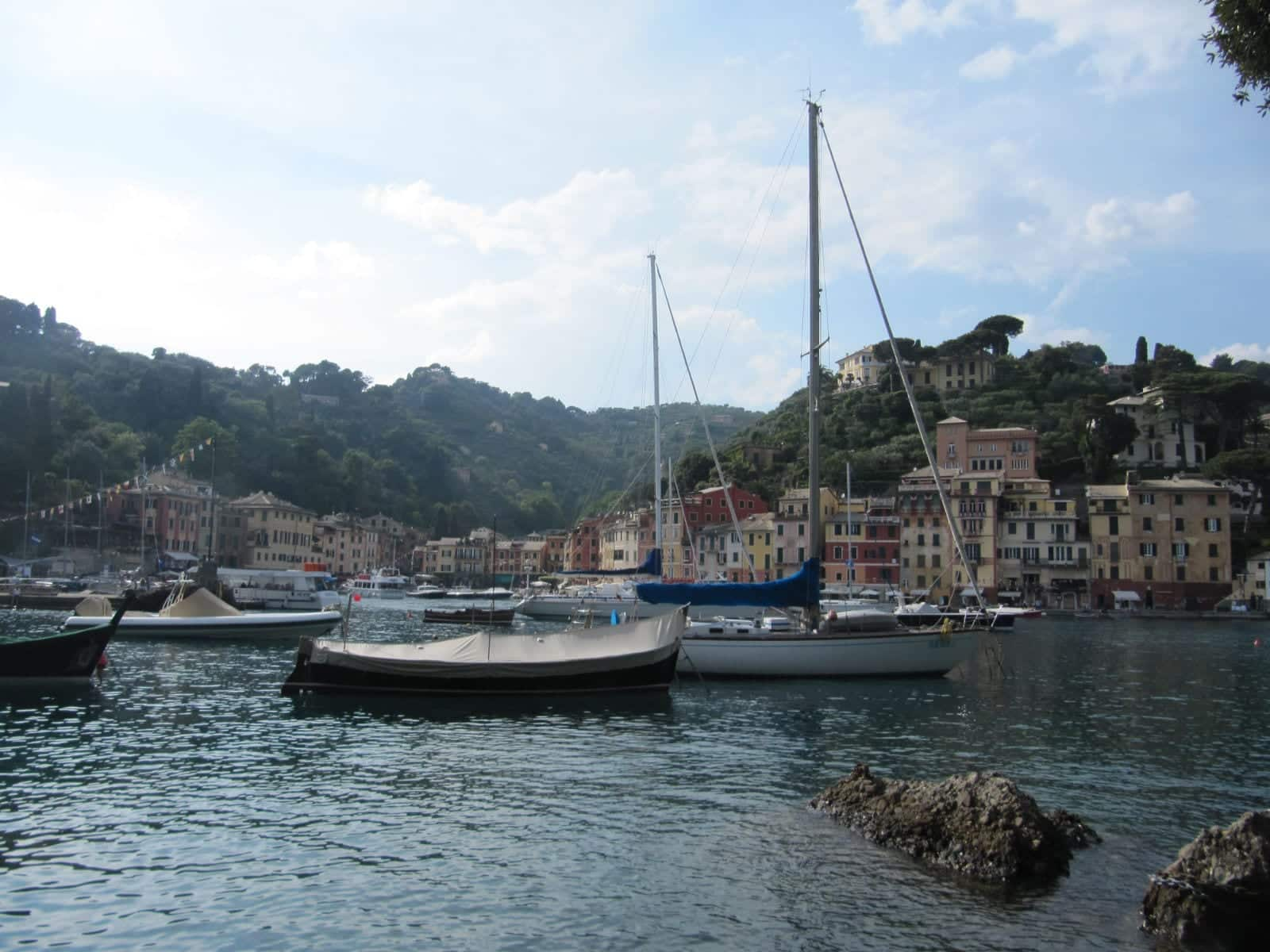 Girls Who Travel | Boats sit in the harbor in Portofino
