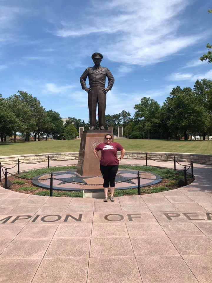 Girls Who Travel | Dwight D Eisenhower Monument in Kansas